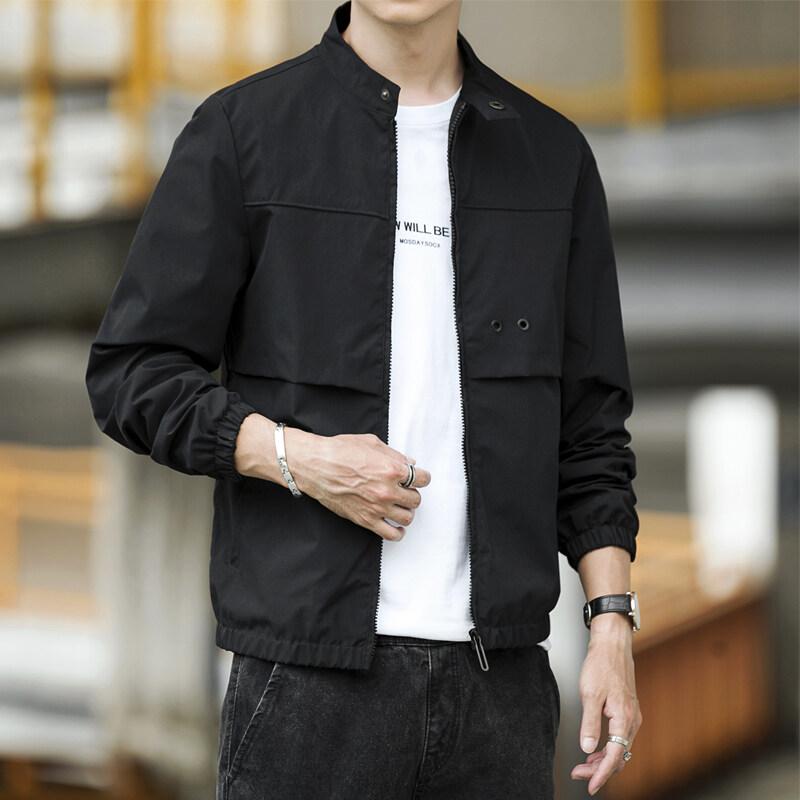 爆款夹克春秋季2020新款男士修身外套韩版潮流帅气男装