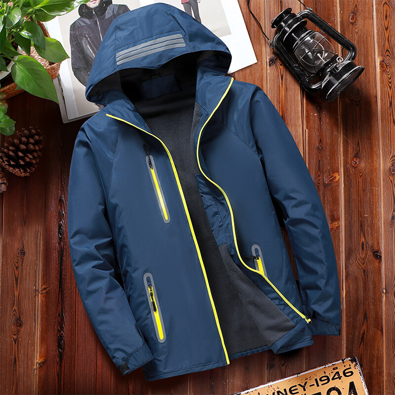 99112020新款冲锋衣户外风衣运动反光加绒冲锋衣防水登山服
