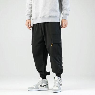 无影墙  多口袋大码工装裤宽松休闲裤束脚裤3006-K01-P50特价钱塘