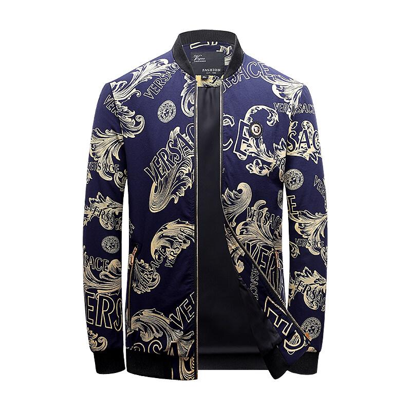 男士外套2020新款韩版修身帅气潮牌立领休闲春秋夹克