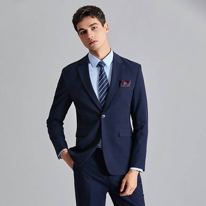 XF8070男士西服马甲西裤套装商务青年职业正装婚服单扣三件套8070