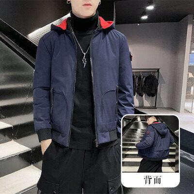飞利亚男士棉衣外套韩版可拆卸棒球领棉袄秋冬季男装潮牌羽绒棉服