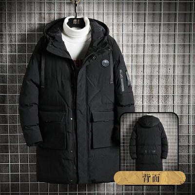 中长款棉衣男装新款加肥加大码胖子加厚棉袄冬季外套男士羽绒棉服