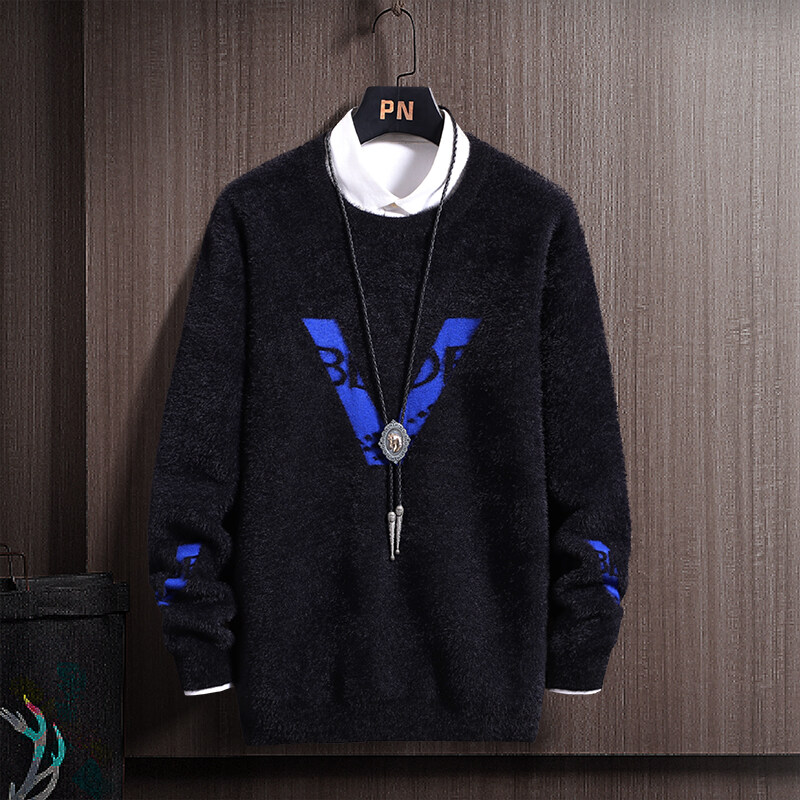 CC-172020男士毛衣男春秋季新款休闲圆领针织衫韩版潮流个性帅气