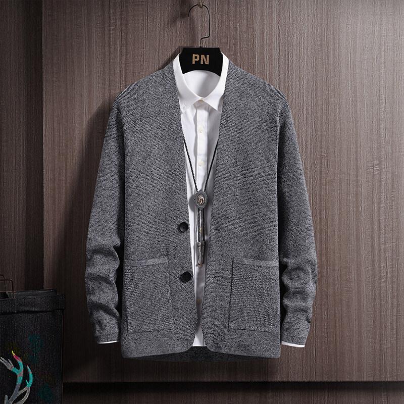 CC-192020男士毛衣男春秋季新款休闲开衫针织衫韩版潮流个性帅气