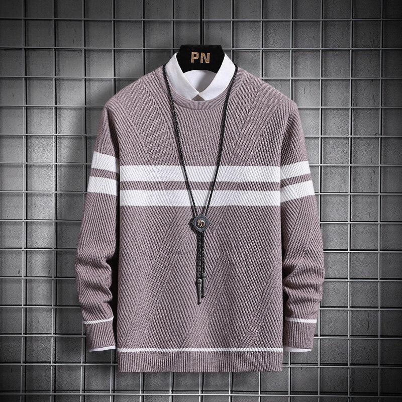 CC-212020男士毛衣男春秋季新款休闲圆领针织衫韩版潮流个性帅气