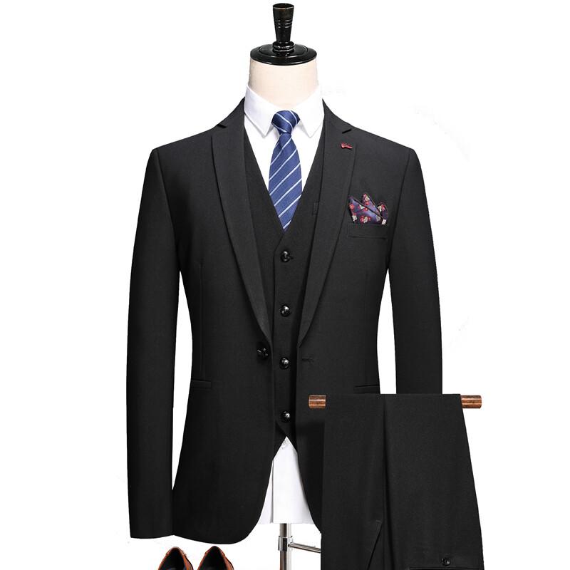 1718秋季新品西服套装 高档职业装正装 一粒扣西装三件套 1718P240