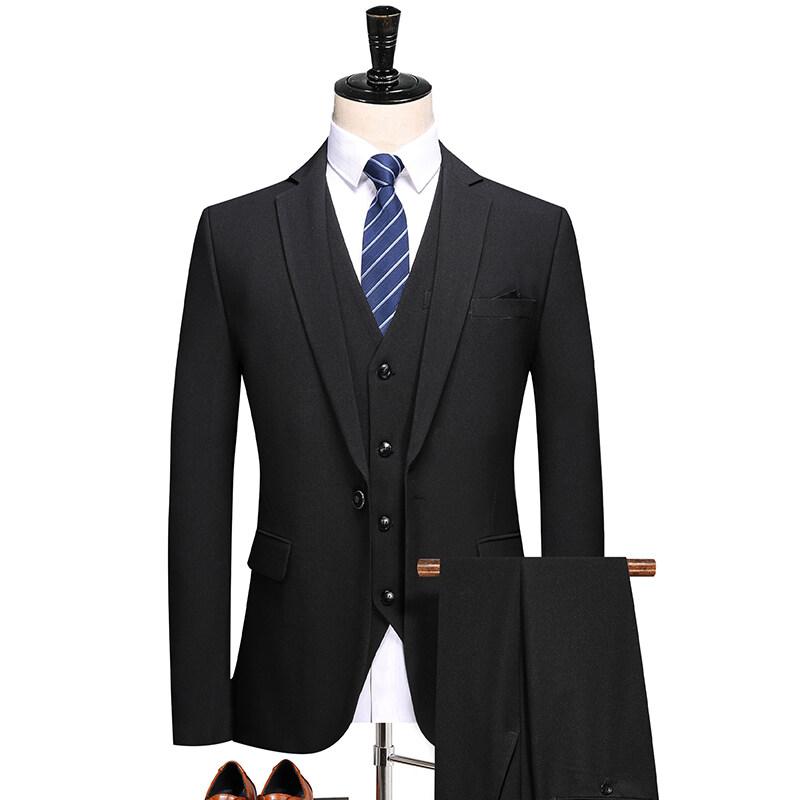 1691秋季新品西服套装 高档职业装正装 一粒扣西装三件套 1691P240