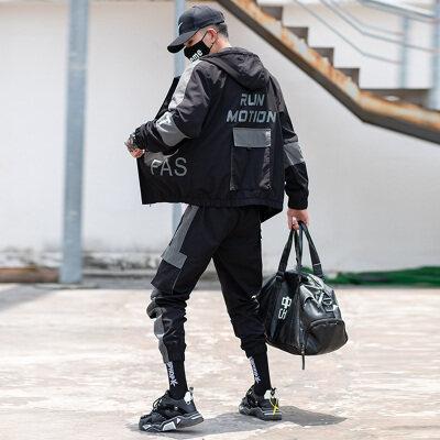 夹克2020新款秋季套装韩版潮流一套帅气衣服休闲80115