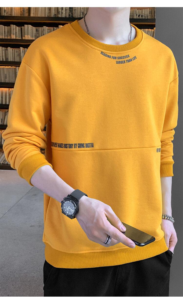 55262020新款秋装秋季长袖T恤男卫衣打底衫男士圆领套头卫衣男