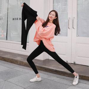黑色外穿打底裤女高腰显瘦学生韩版修身弹力小脚铅笔裤春秋薄款裤