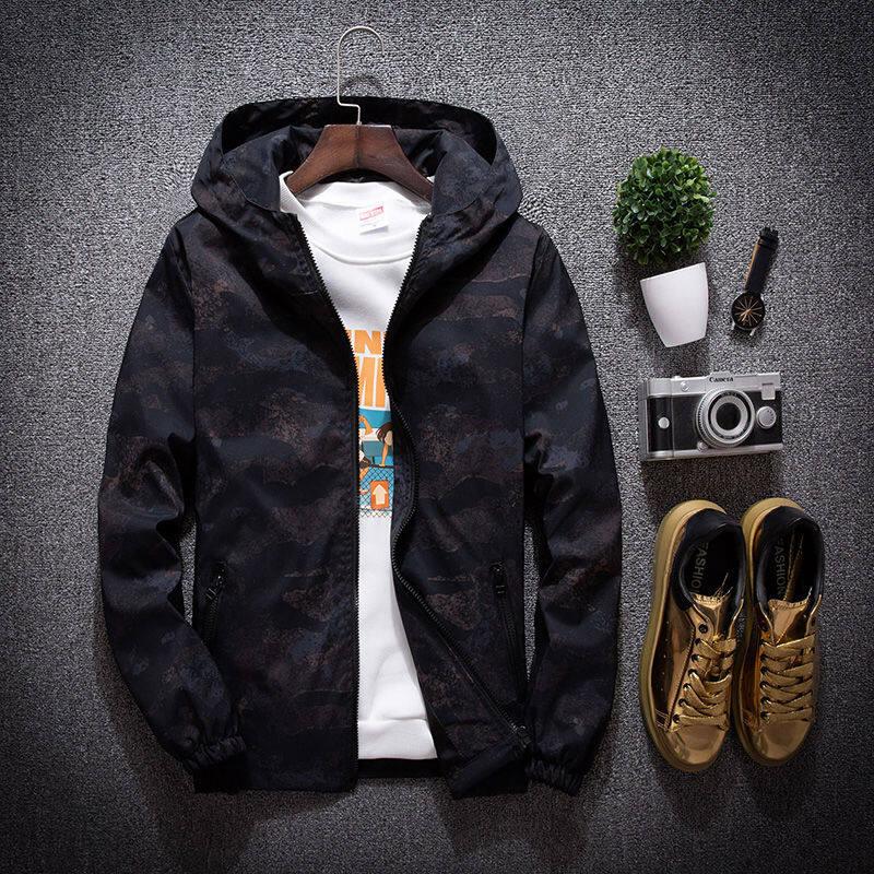 春秋新款加肥加大码外套男夹克上衣学生韩版宽松青年胖子棒球服潮