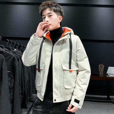 2020冬季棉衣男工装外套加厚保暖韩版修身棉服休闲夹克