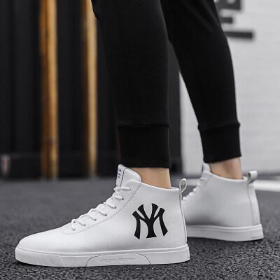 【誉诚鞋业- F6028-冷粘】高帮潮流板鞋-45元