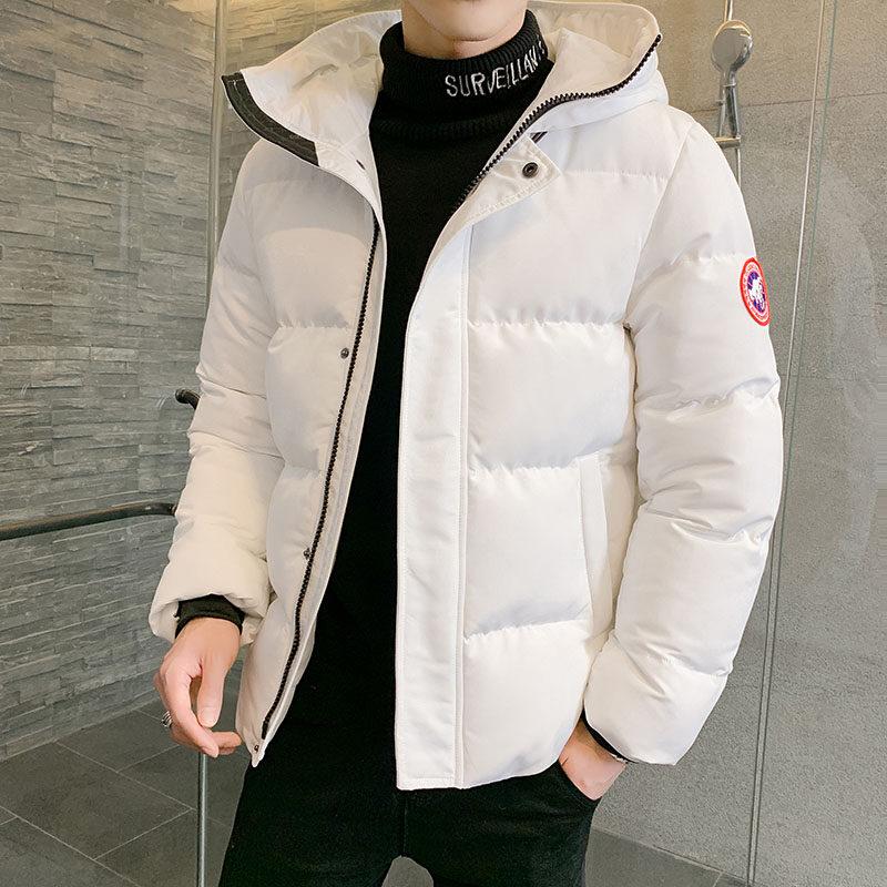 YY8015 男士冬季棉衣新款加厚加绒棉服短款韩版潮流冬装连帽迷彩面包服