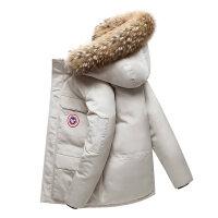 2020新款小鹅羽绒服男士短款户外加厚工装冬季外套时尚情侣装
