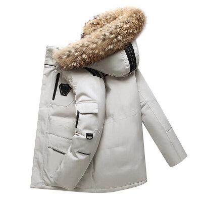 跑男同款羽绒服男2020冬季新款韩版时尚潮牌中长款外套男