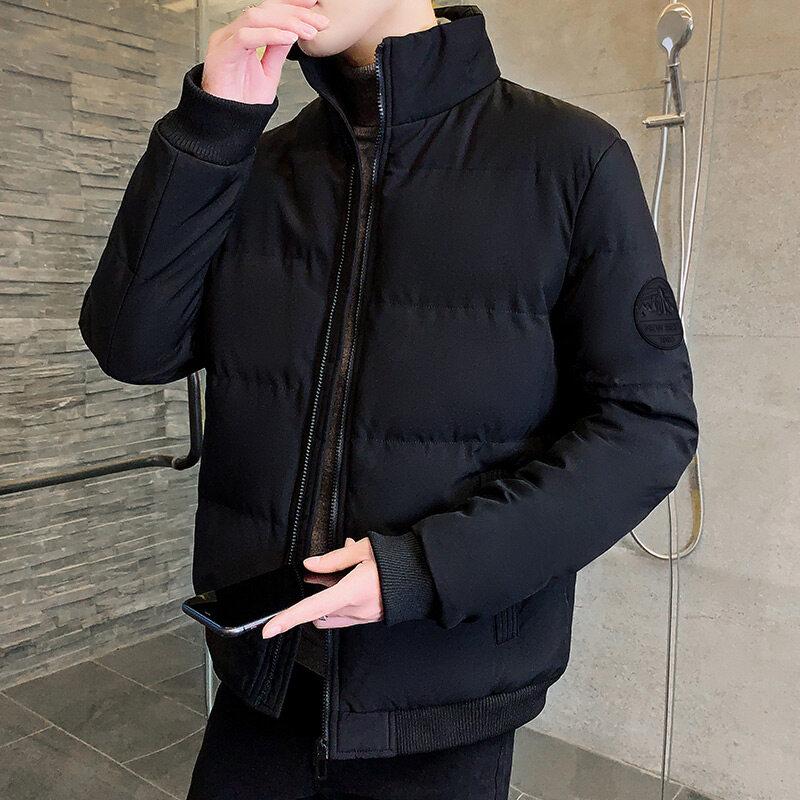 M8616款冬季短款男士大码棉衣韩版修身立领羽绒棉服男装棒球服外套加厚棉