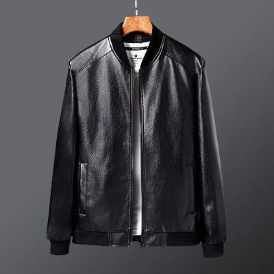 货号3321春季皮衣男士修身韩版中青年帅超A机车风PU皮夹克