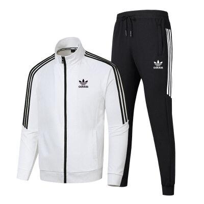 开衫套装男新款秋季时尚卫衣休闲运动套装男开衫拉链两件套学生潮