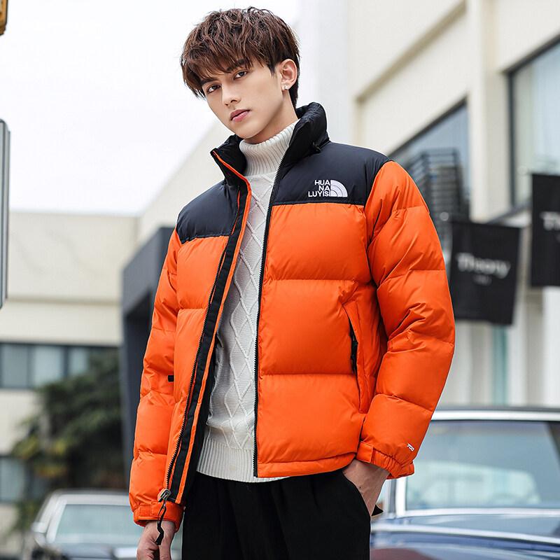 YR61996款羽绒服男潮牌冬季潮流帅气韩版男士工装外套面包服短款加厚上衣