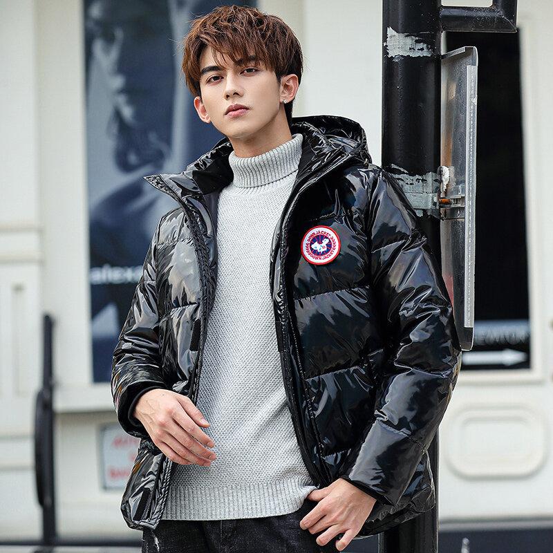 YR62081款 男士羽绒服潮牌2020新款短款变色帅气潮流炫彩爆款大鹅外套