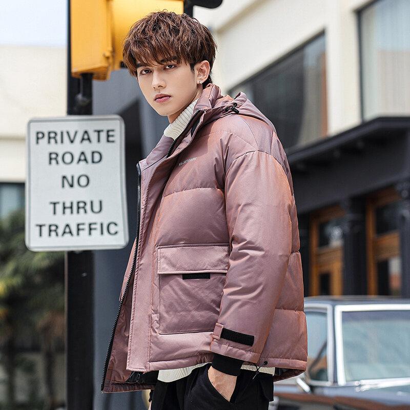 YR62116 男士羽绒服2020新款冬季短款潮流帅气爆款变色青少年防寒服