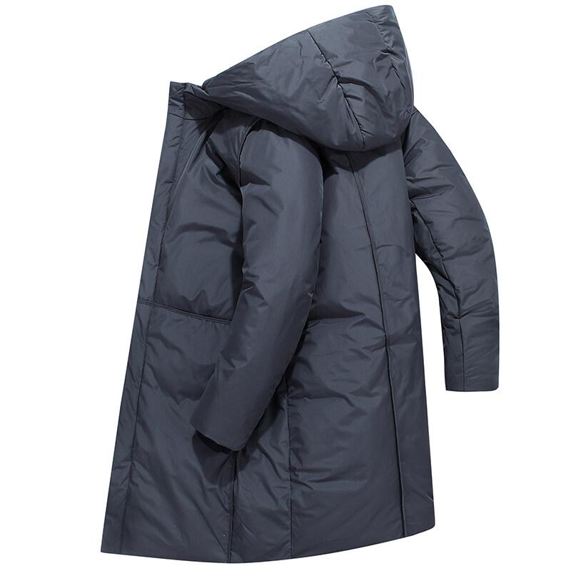 78052020新款冬季情侣外加厚保暖大衣羽绒服男长款过膝连帽外套潮