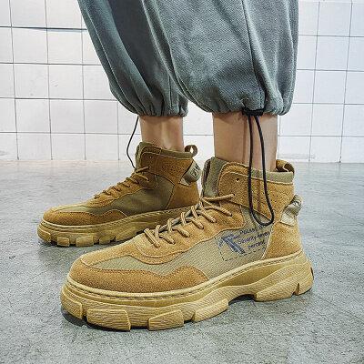 【誉诚鞋业- AS877-注塑】港风爆款工装马丁靴子-40元