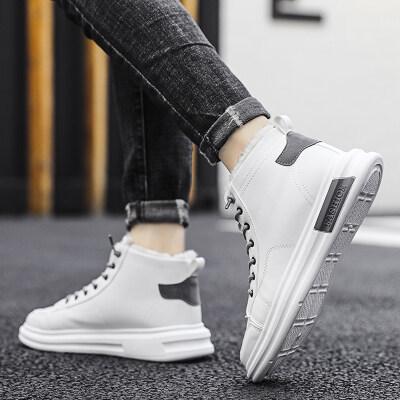 【誉诚鞋业-S17-注塑】加绒高帮爆款运动板鞋-特价35元