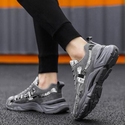 【誉诚鞋业-D158-冷粘】花布男鞋老爹鞋-43元