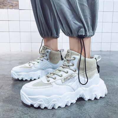 【誉诚鞋业- D160-冷粘】高帮时尚潮流男鞋老爹鞋-43元