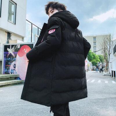 男士棉衣2020秋冬季新款韩版潮流潮牌中长款加厚棉服帅气棉袄