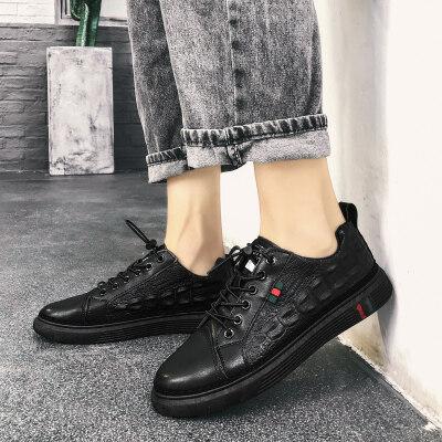 【誉诚鞋业-6775-1-注塑】二类爆款鳄鱼皮皮鞋-特价32