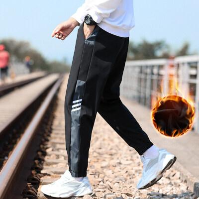 [友威宝]2020新款加绒休闲长裤男士加绒休闲裤