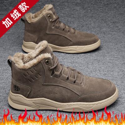 涌哥★M135-1 冬季棉鞋高帮鞋加绒马丁靴工装靴机车靴男鞋