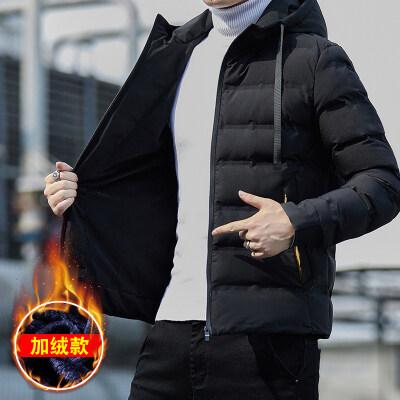 男士棉衣潮2020新款秋冬季加绒棉袄潮流韩版加厚外套面包棉服冬装