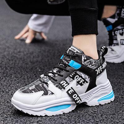 【誉诚鞋业- D157-冷粘】新拍秋季高帮潮鞋-特价37元