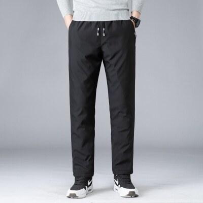 2020新款冬装户外长裤男加肥加大码加绒加厚宽松休闲羽绒裤裤