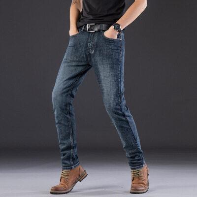 2020春秋新款男式弹力牛仔裤男装商务修身小直筒男士大码牛仔长裤