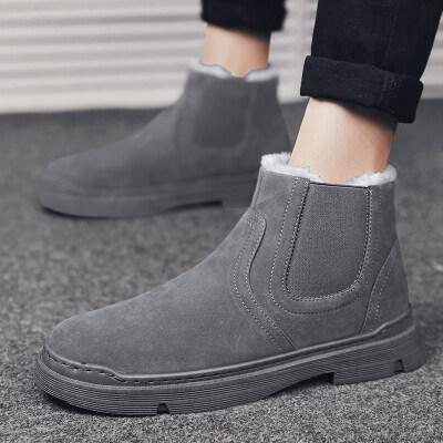 涌哥★T558 冬季棉鞋加绒雪地靴男鞋高帮板鞋运动鞋男鞋潮鞋