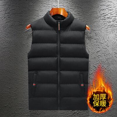 男士秋冬季马甲韩版潮流修身无袖加厚保暖羽绒棉马夹背心坎肩外套