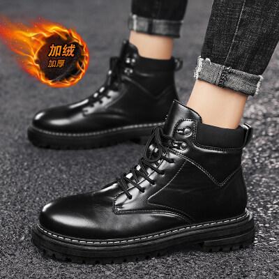 【誉诚鞋业-MD101-注塑】加绒高帮马丁运动潮鞋-50元