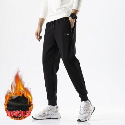休闲裤男士2020秋冬季新款加绒加厚长裤子韩版潮流百搭束脚卫裤厚