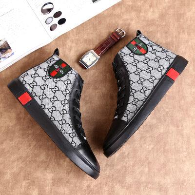 男士休闲时尚板鞋新款潮流中帮男鞋百搭休闲鞋