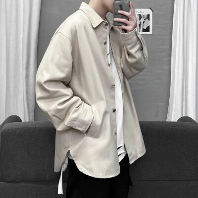 KC01设计感小众长袖牛仔衬衫韩版宽松内搭上衣冬P55(限65)