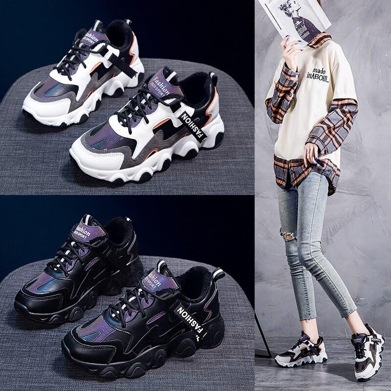 45伟和鞋业 2031冬季加棉保暖老爹鞋智熏运动鞋潮鞋