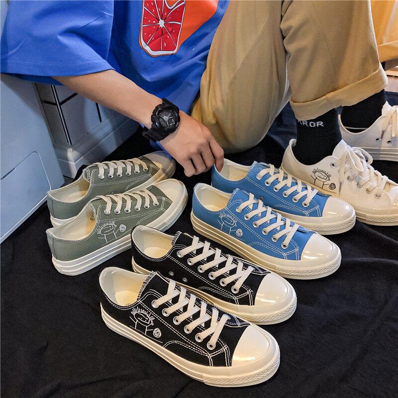 XZ517-1 XZ1187 P48帆布鞋学生新款ins休闲鞋低帮男复刻经典系带XZ517-1 XZ1187 P48