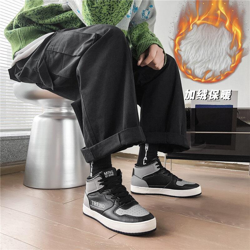 XZ517-1 XZ1269 P60加绒高帮板鞋男2020冬季鞋ins学生保暖棉鞋棉XZ517-1 XZ1269 P60