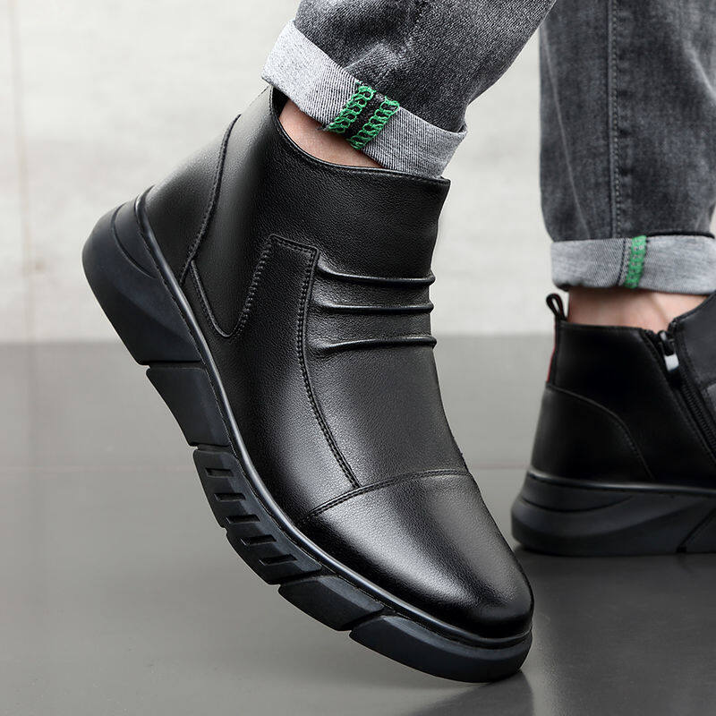 w137601219896u男靴子冬季加绒保暖男士软底高帮鞋休闲鞋马丁靴韩版潮流